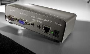 LevelOne AVE-9201 1-port Cat.5 Audio/Video Broadcaster (cable included)