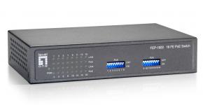 LevelOne FEP-1600 Fast Ethernet Networking Switch [16-port 10/100Mbps, POE 120W, 3.2 Gbps, 4k MAC]
