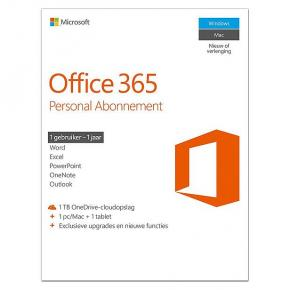 Microsoft QQ2-00504 Office 365 Personal NL [1 user, 1yr licence: Publisher, Access+]