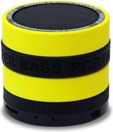 Conceptronic CSPKBTSBY Wireless BT Super Bass Speaker [BTv2.1, MIC, FM, SD/TF, 400mA, Yellow]