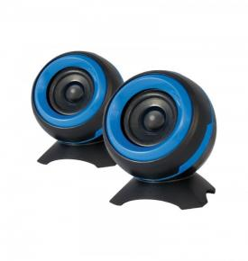 ADJ 760-00010 SP025 Sphere Speaker Set [2x 6W, 2.0 CH, USB Powered, 4O,  85Hz-20KHz,  60dB, Blue]