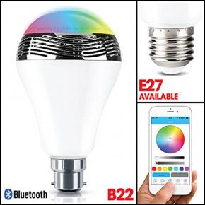 WOOX R4554 Smart B22 LED lamp RGB & warm wit, powered by TUYA