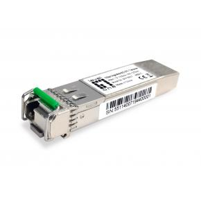 Levelone SFP-6551 10Gbps Single-mode BIDI SFP+ Transceiver, 60km, TX 1330nm / RX 1270nm